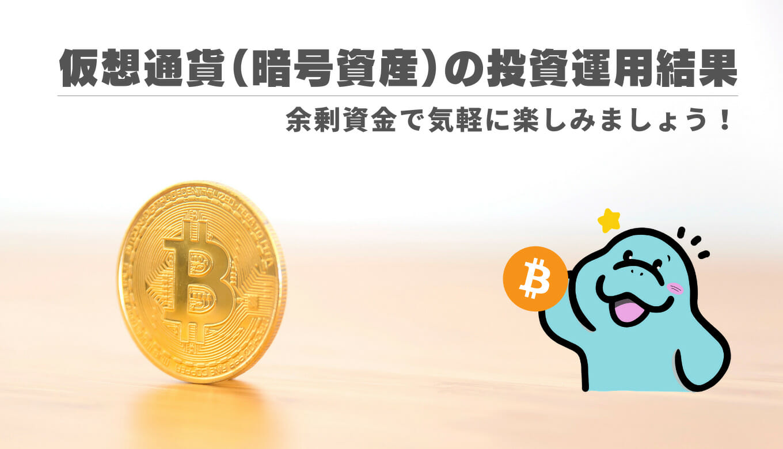 仮想通貨(暗号資産)の投資運用結果